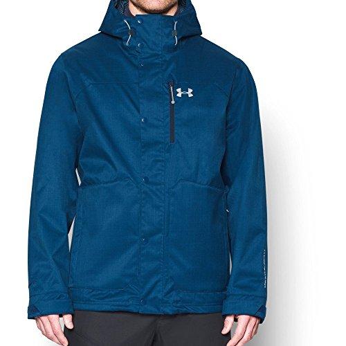 Under Armour Men's Storm ColdGear Infrared Porter 3-in-1 Jacket, Heron/Midnight Navy, - Porters Apparel