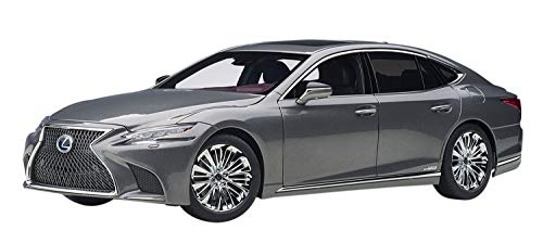 AUTOart 1/18 Model Car of Lexus LS500h Manganese Luster Gray Metallic with Crimson and Black Interior 78867