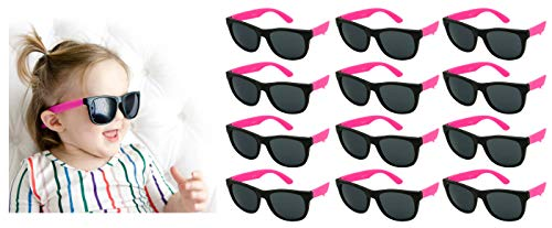 Edge I-Wear 12 Pack Fun Party Sunglass Neon Sunglasses for Kid Party Favors 80's style glasses Wholesale -