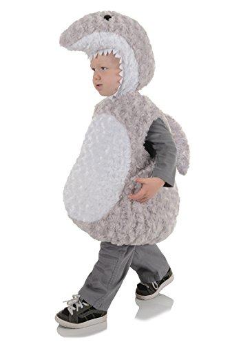 Under The Sea Boy Costume (Underwraps Baby's Shark Belly, Grey/White, Medium)