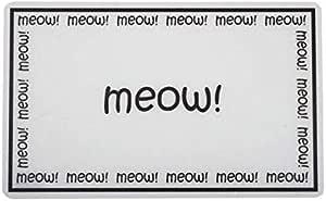 PetRageous Meow Placemat, Black/White