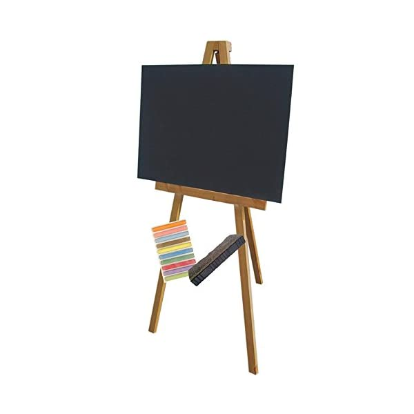 Chalkboards-UK-Large-Wooden-6ft-Artists-Easel-A1-Chalkboard-Package-Blackboard-594-x-841mm-H1650-mm-Black