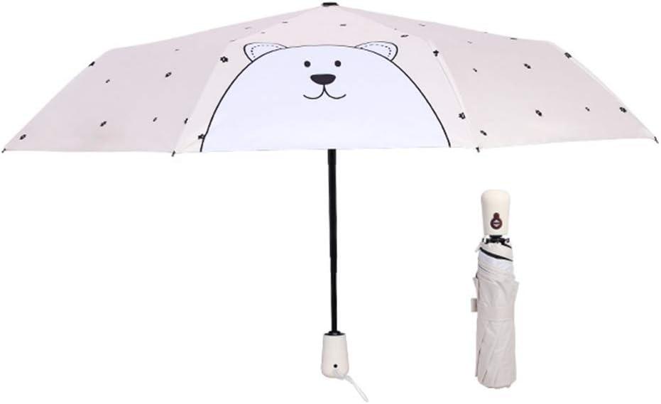 JUNDY Paraguas Compacto y Resistente al Viento, Paraguas Plegable, Conveniente para Viajes Dibujos Animados Paraguas automático Gel Negro Protector Solar color1498cm: Amazon.es: Hogar