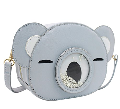 Animal Bag Leather Shoulder Gray Aibearty Crossbody Round Handbag Girls Cute Bear Women wq7HR