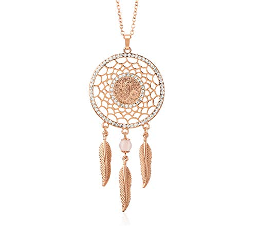 Mirror Bead Necklace - Boltz Mini Dream Catcher Car Rear View Mirror Hanging Accessories, Zodiac Sign Car Charm Boho Dangling Feather Tassel Bead Pendant 12 Constellation Decor for Women (Capricorn)