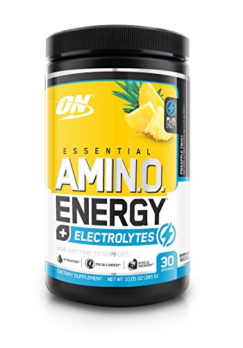 OPTIMUM NUTRITION Essential Amino Energy + Electrolytes, Pineapple Twist, 30 Servings