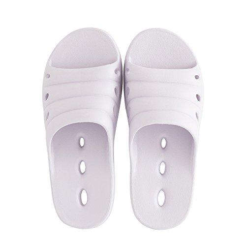 FankouZapatillas de verano femenino baño interior fugas expuesta una espuma ligera y simple base fast dry cool zapatillas y desodorización ,39-40, la luz púrpura zapatillas para el agua