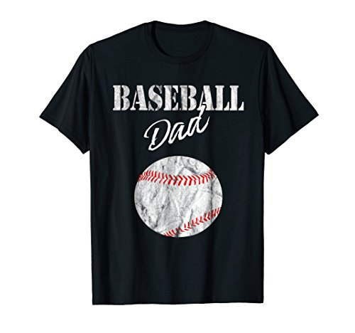 Mens Funny Baseball Dad T-Shirt Funny Fathersday Lovers Tee XL Black