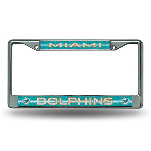 NFL Miami Dolphins Bling Chrome Plate - Shop Frame Miami