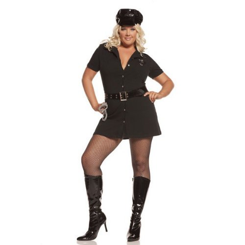 [Elegant Moments Women's Plus-Size Officer Arrest Me-Plus, Black, 1X/2X] (Lady Reaper Adult Plus Size Costumes)