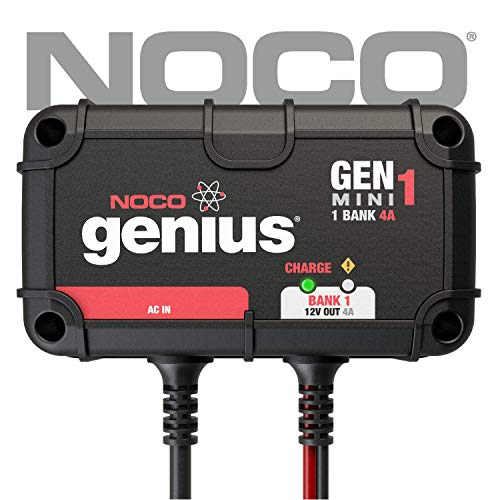 NOCO Genius GENM1 4 Amp 1-Bank On-Board Battery Charger ()