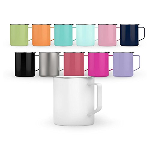 Maars Townie Insulated Coffee Mug, 14 oz | Double Wall Vacuum Sealed Camp Cup - Fuchsia