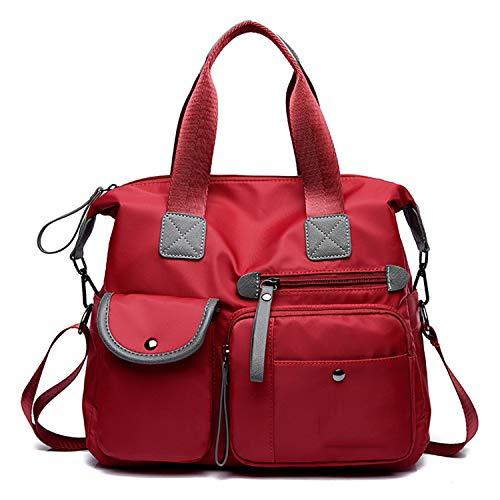 Fashion Red Tracolla A Ufficio Oxford Per Borse Tote Constructs Donna Messenger Portatile Borsa Da SXwnOxg