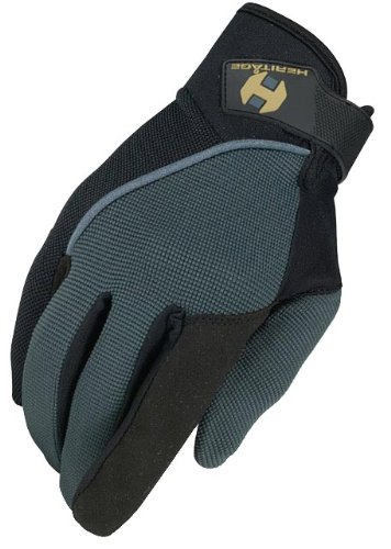 Heritage Competition Gloves, Size 11, Dark Grey/Black - Heritage Competition Gloves