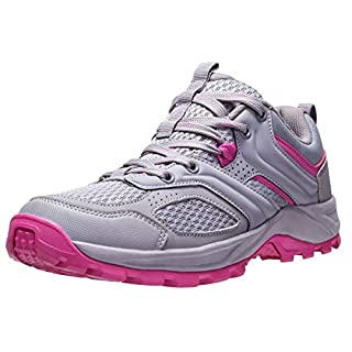 CAMEL CROWN Hiking Shoes for Women Tennis Trail Running Backpacking Walking Shoes Comfortable Slip Resistant Sneakers Lightweight Athletic Trekking Low Top Boot Pink 10.5B(M) US