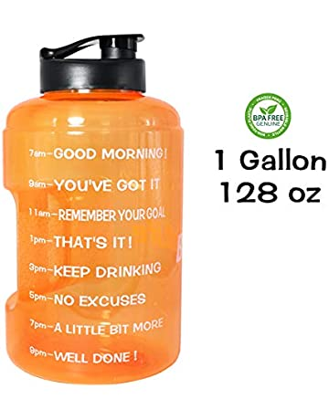 5417a13b5e QuiFit 128oz/83oz Water Bottle Reusable Leak-Proof Drinking Water Jug for  Outdoor Camping. Upcoming Deal