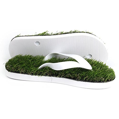 Hausschuhe Rasen - SODIAL(R) Sommer Kuehle Hefterkunstrasen Wohnungen Flip Flops Sandalen Schuhe Groesse 45