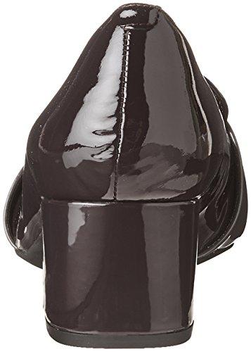CLARKS Womens Tealia Elva Dress Pump Aubergine Pat Combi TaL1VLk