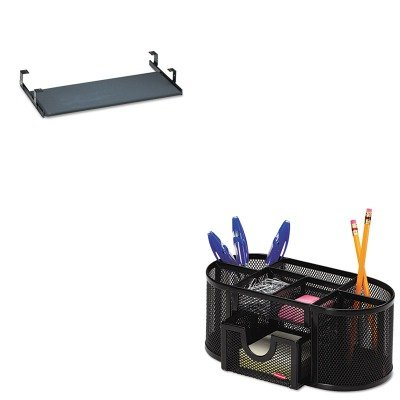 KITBSHAC9980803ROL1746466 - Value Kit - Bush Universal Keyboard Shelf Accessory Black (BSHAC9980803) and Rolodex Mesh Pencil Cup Organizer (ROL1746466)