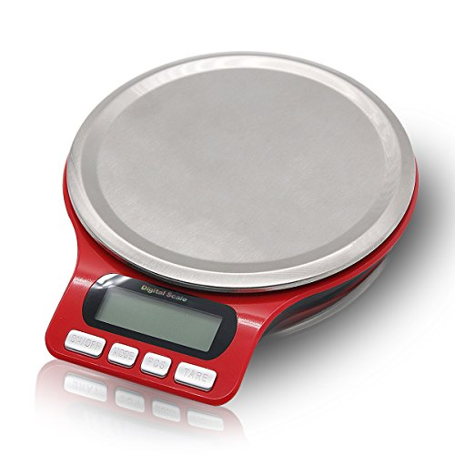 Digital Scale, Electronic Kitchen Food Small Weight Scale 1g-5kg with 6 Weighing Modes ( g oz ozt dwt gn ct ) (Ct Scale Weight)