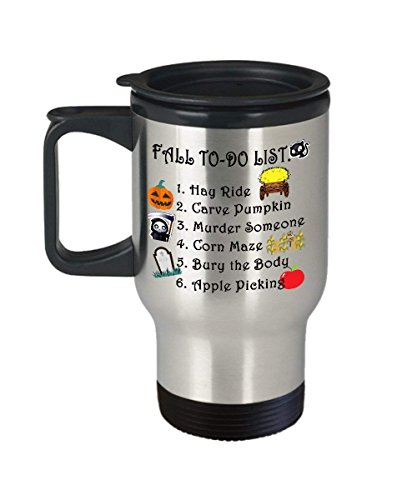 Coffee mug,Funny beer travel mug-Autumn Mug Fall to