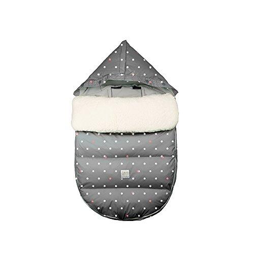 7AM Enfant LambPod Infant Travel Bed, Grey Polka Dots, Medium/Large by 7AM Enfant (Image #1)