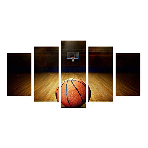 - Garth Canvas Art HD Printed Basketball Course Painting Wall Pictures For Gym Decor Modular Painting Home Decor 5 Piece (Frameless)