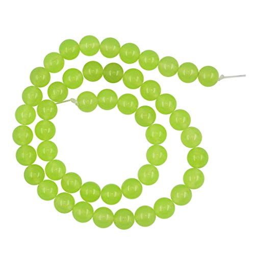 Decorative Natural Jade Beads for Jewelry Making and Holiday Dress Up Decors (Size - -