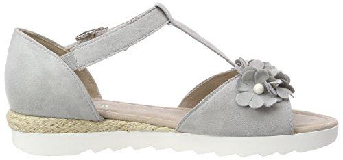 Gabor Shoes Comfort Sport, Sandales Bride Cheville Femme Gris (Light Grey Jute)