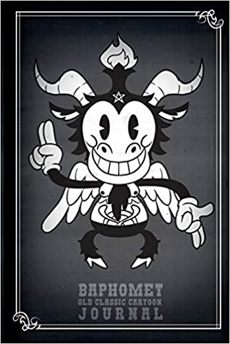 Baphomet Old Classic Cartoon Journal: 120 Pages 6 X 9 Dot Grid ...