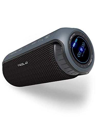 TREBLAB HD55 - Deluxe Bluetooth Speaker - Impeccable 360° HD Surround Sound & Best Bass, Great For Office, Travel & Beach Parties, Waterproof IPX4, Loud 24W Stereo, Portable Wireless Blue Tooth w/Mic by Treblab (Image #8)