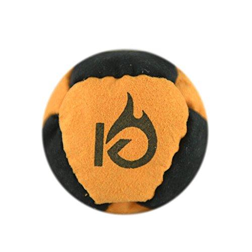 KickFire HotSacks Hacky Sack Sand Filled 8 Panel Leather Footbag | Bonus Video Quick Start Tips | Best for Kids, Teens & Adults