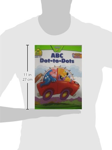 SCHOOL ZONE - ABC Dot-to-Dots Workbook, Ages 3 to 5, Get Ready!™, Alphabet, Alphabetical Order, Letters, Sequencing, Fine Motor Skills, Illustrations and More! by School Zone Publishing (Image #6)