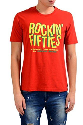 ARMANI JEANS AJ Rock In Fifties Men's Red Crewneck T-Shirt US L IT 52;