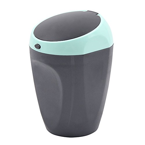 Car Ashtray Cup for Cigarette with Lid and Stainless Inner Tank Heat Resistant Portable Smokeless Auto Ashtray Cylinder for Universal car Cup Holder (Blue, Ashtray)