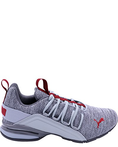 PUMA Mens Axelion Sneaker Quarry-quiet Shade-red Dahlia