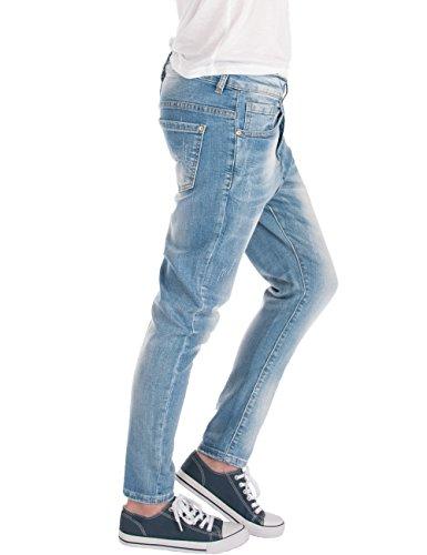 femme Clair jeans Fraternel Bleu used boyfriend pantalon EBqaawC7