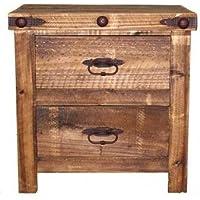 Rustic Reclaimed Wood Nightstand, Bedside Table, Real Wood