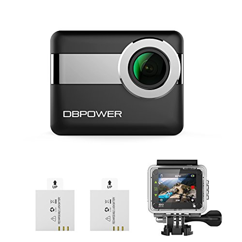 "DBPOWER 4K WiFi Action Camera, 2.31"" LCD Touchscreen 20MP 170 Wide Angle Waterproof Sports Cam, 2 Rechargeable Batteries included Accessories Kits(2017 Version) Action Cameras DBPOWER"