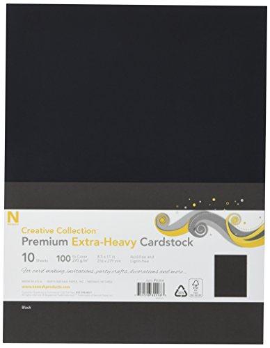 Heavyweight Black Cardstock