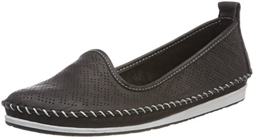 Andrea Conti Women's 0025717 Loafers, Blue Black (Schwarz 002)