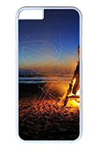 Beach Bonfire Custom iphone 6plus 5.5 inch Case Cover Polycarbonate White
