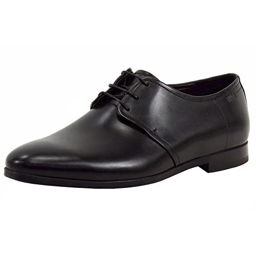 hot sale Hugo Boss Men's Pariss_Derb_3LT Black Lace Up Loafers Shoes