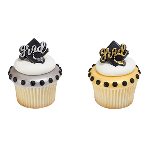 (Foil Grad Cupcake Rings 24 Count)