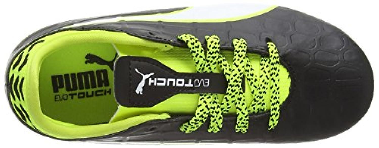 Puma Evotouch 3 Fg Jr, Unisex Kids' Football Training Shoes, Black (black-white-safety yellow 01), 1 UK (33 EU)