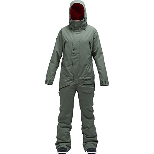 Air Blaster Freedom Insulated Womens One Piece Ski Suit - Medium/Olive by AIRBLASTER