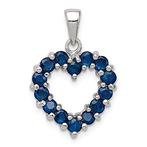 925 Sterling Silver Sapphire Pendant Charm Necklace Gemstone Fine Jewelry Gifts For Women For Her