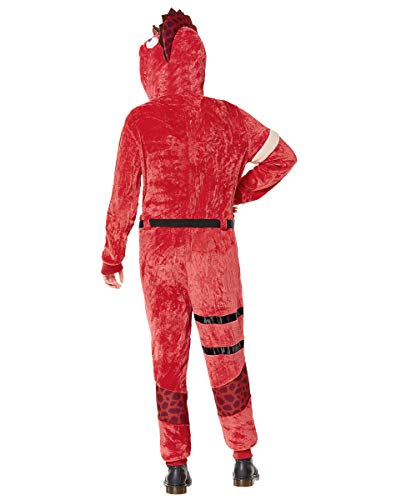 Adult Fortnite Plush Tricera Ops Costume - Teen Red