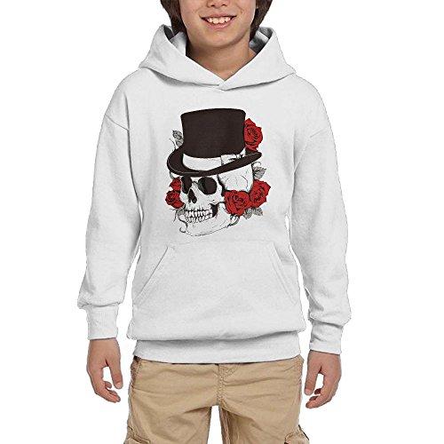 Wholesale Cool Skull Top Hat Girls Pullover Hoodie Hip Hop Pocket Sweatsuit supplier