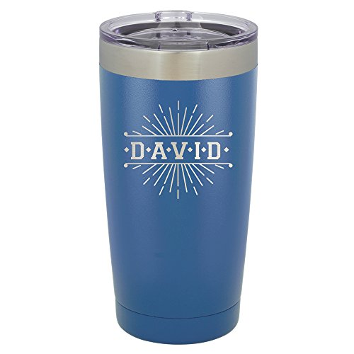 Froolu Stainless Steel Travel Coffee Mug - Blue Personalized Laser Engraved Tumbler - Hydro Travel Cup -